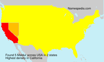 Surname Maldur in USA