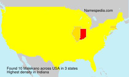 Surname Malekano in USA