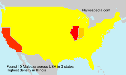 Surname Malesza in USA