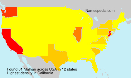Surname Malhan in USA