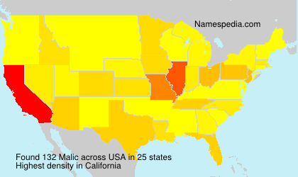 Surname Malic in USA