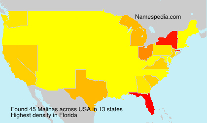 Surname Malinas in USA