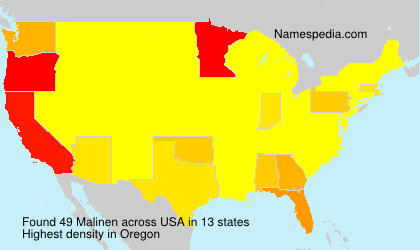 Surname Malinen in USA