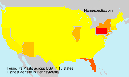 Surname Malits in USA