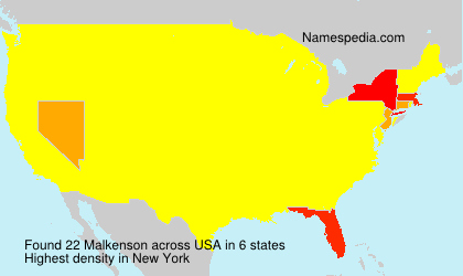 Surname Malkenson in USA