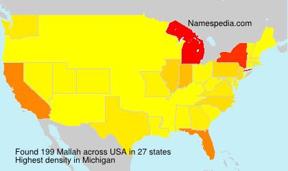 Surname Mallah in USA