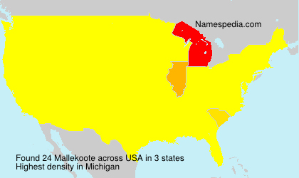 Surname Mallekoote in USA
