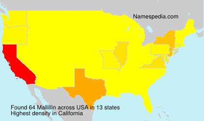 Surname Mallillin in USA