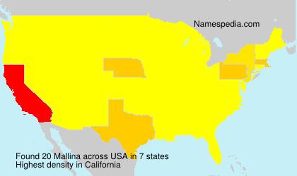 Surname Mallina in USA