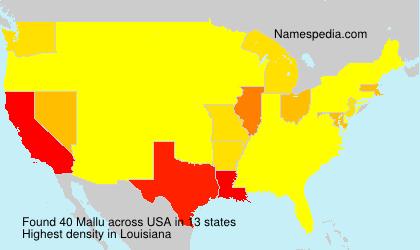 Surname Mallu in USA