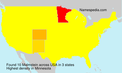 Surname Malmstein in USA