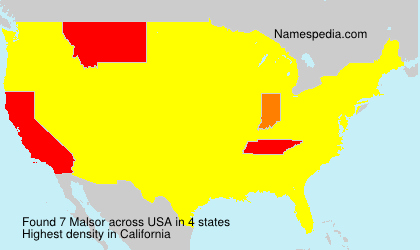 Surname Malsor in USA