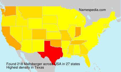 Surname Maltsberger in USA