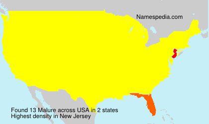 Surname Malure in USA