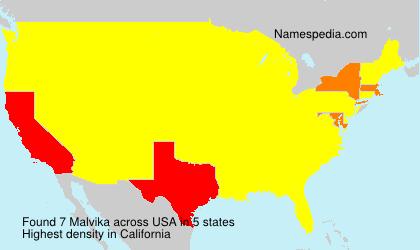 Familiennamen Malvika - USA