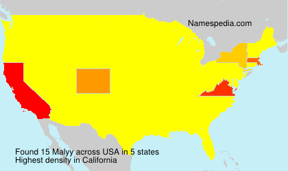 Familiennamen Malyy - USA
