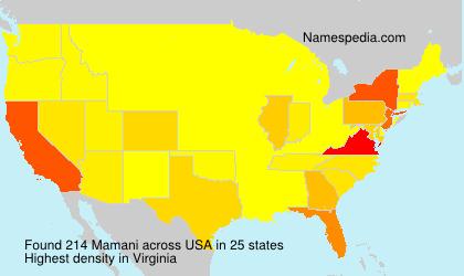 Surname Mamani in USA