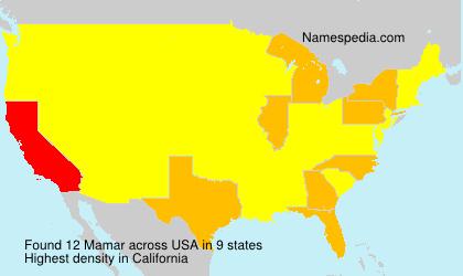 Familiennamen Mamar - USA