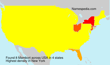Familiennamen Mambort - USA