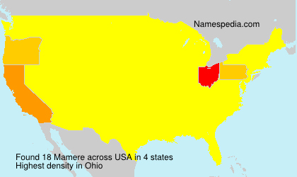 Surname Mamere in USA