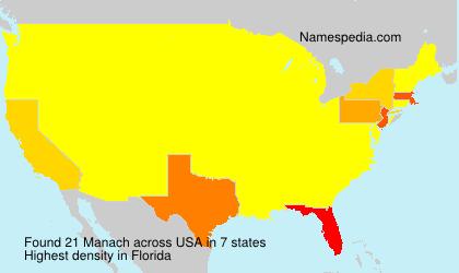 Surname Manach in USA