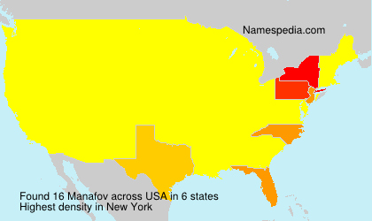 Surname Manafov in USA