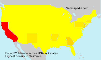 Surname Manalu in USA