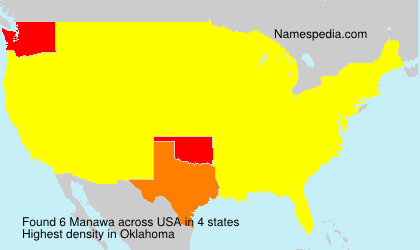 Surname Manawa in USA