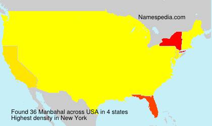 Surname Manbahal in USA