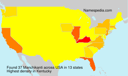 Surname Manchikanti in USA