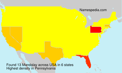 Surname Mandalay in USA
