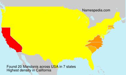 Surname Mandanis in USA