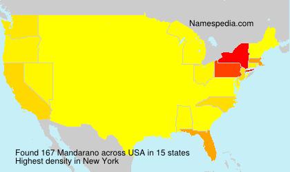 Surname Mandarano in USA