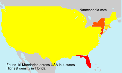 Surname Mandarine in USA