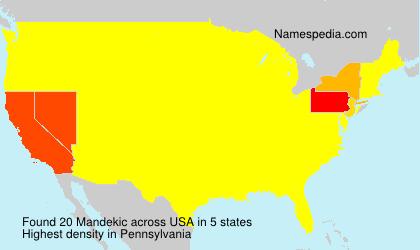 Surname Mandekic in USA