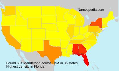 Familiennamen Manderson - USA