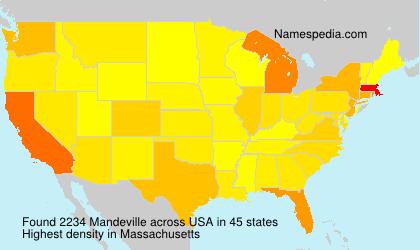 Surname Mandeville in USA