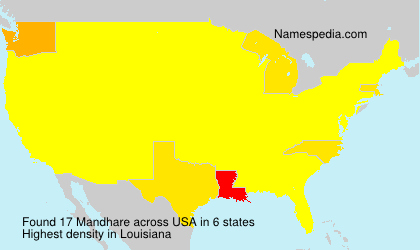 Surname Mandhare in USA