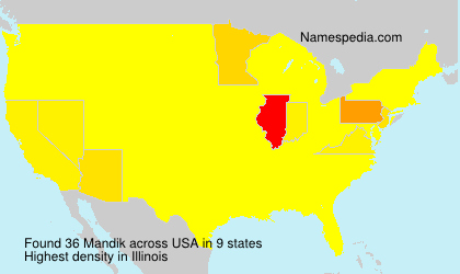 Surname Mandik in USA