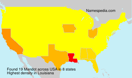 Surname Mandot in USA
