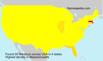 Surname Mandozzi in USA