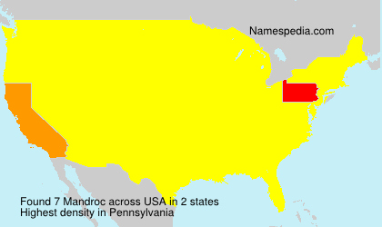 Surname Mandroc in USA