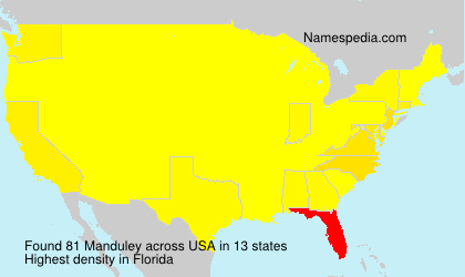 Surname Manduley in USA