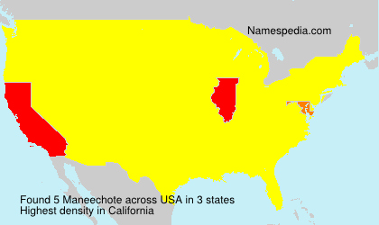 Surname Maneechote in USA
