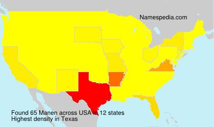 Surname Manen in USA