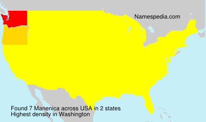 Surname Manenica in USA