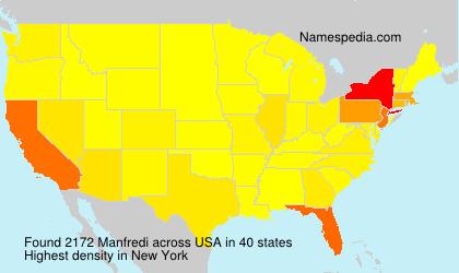 Surname Manfredi in USA
