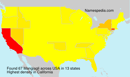 Surname Mangiagli in USA
