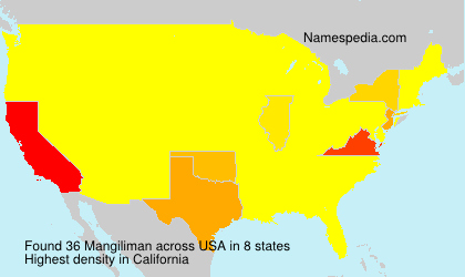 Surname Mangiliman in USA