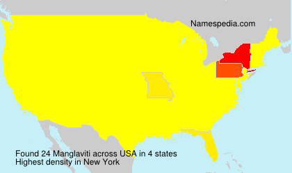 Surname Manglaviti in USA
